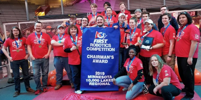 Henry's Herobotics Team captures Chairman's Award from FIRST Robotics