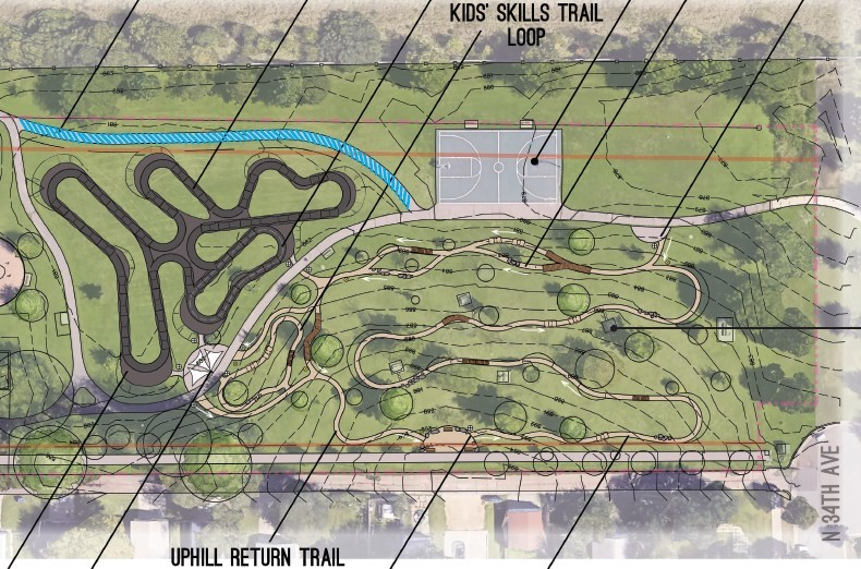 Pump track, bike skills course may come to Perkins Park