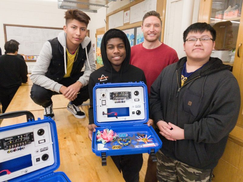 Solar Suitcases from North Minneapolis to Northwest Kenya Turning light energy into electricity across the globe