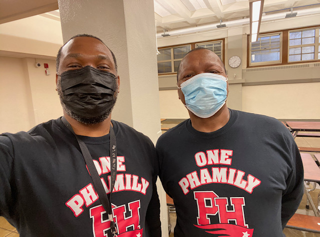 Anchors of Henry High School:  Yusuf Abdullah and Terry Sumrall
